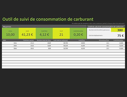 Outil de suivi de consommation de carburant