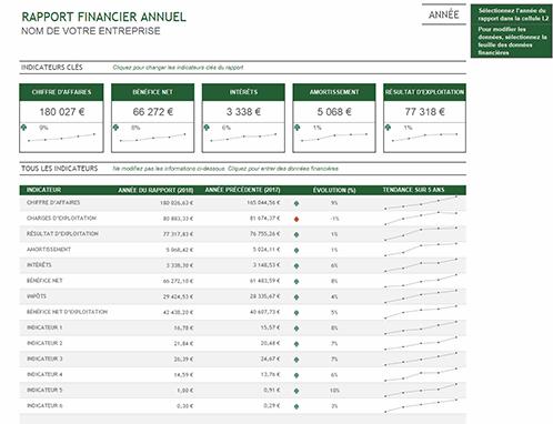 Rapport financier annuel