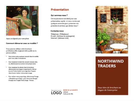 Brochure professionnelle à trois volets