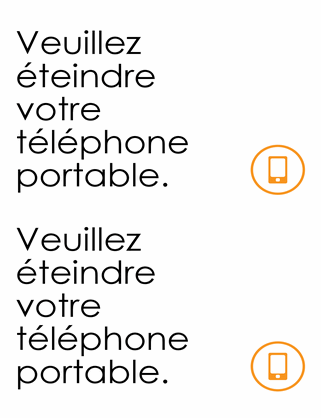 Rappel pour l'extinction des téléphones portables