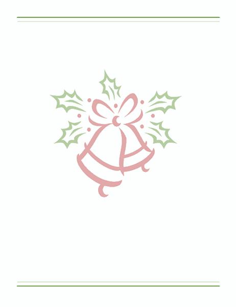 נייר מכתבים לחג המולד (עם סימן מים של פעמון)