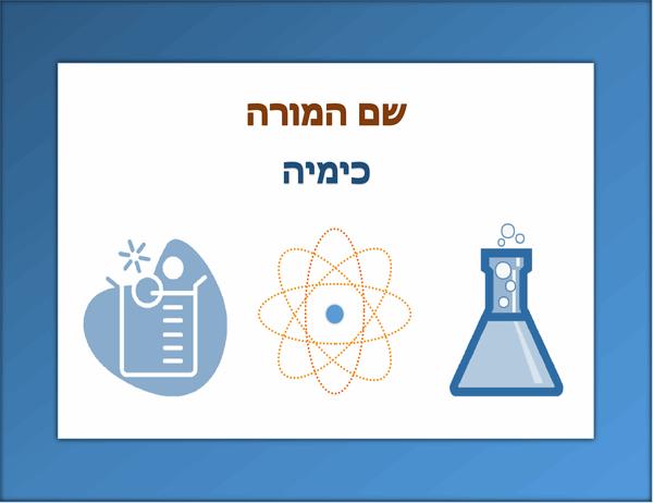שלט לכיתה (כימיה)