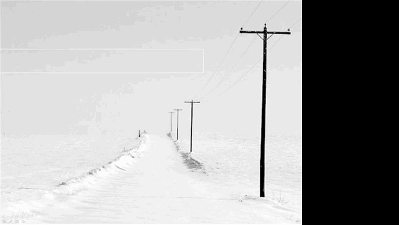 Predložak dizajna Snježna cesta