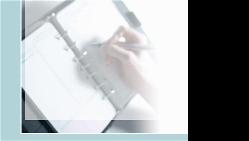Predložak dizajna Pisanje izbliza