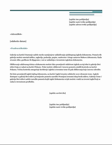 Cirkularno pismo (tema Urban)