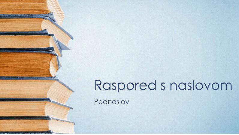Plava prezentacija s naslaganim knjigama (široki zaslon)