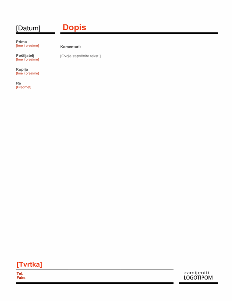 Službeni dopis (crveni)