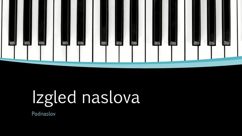 Prezentacija s glazbenim krivuljama (široki zaslon)