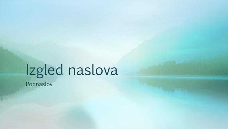 Prezentacija s motivom spokojne prirode (široki zaslon)