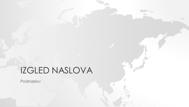 Serija s kartama svijeta, prezentacija s kartom Azije (za široki zaslon)