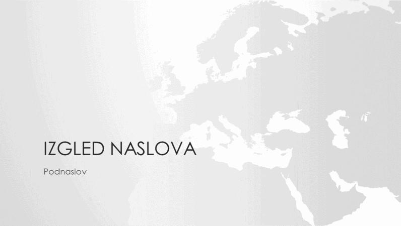 Serija s kartama svijeta, prezentacija s kartom Europe (za široki zaslon)