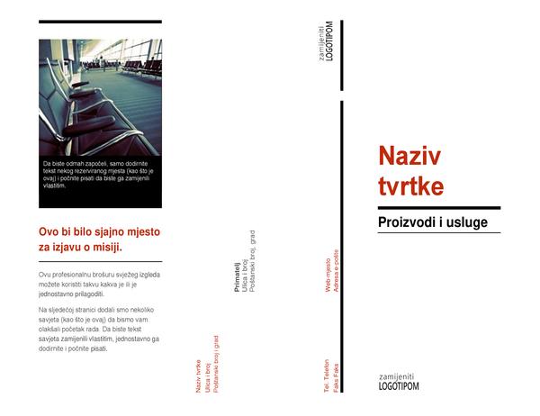 Brošura s tri preklopa (crveno-crna)