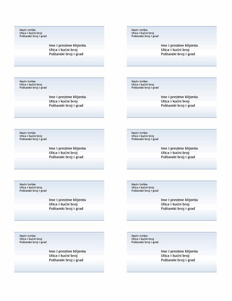 Otpremnice (dizajn s plavim prijelazom, 10 po stranici)