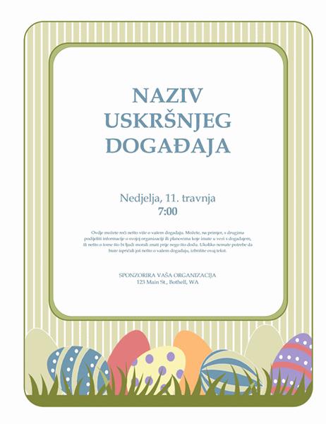 Letak za Uskrs (s jajima)
