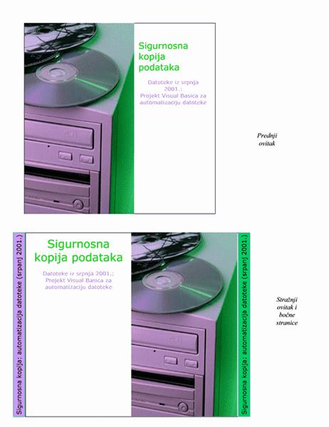 Ovici za CD sa sigurnosnim podacima