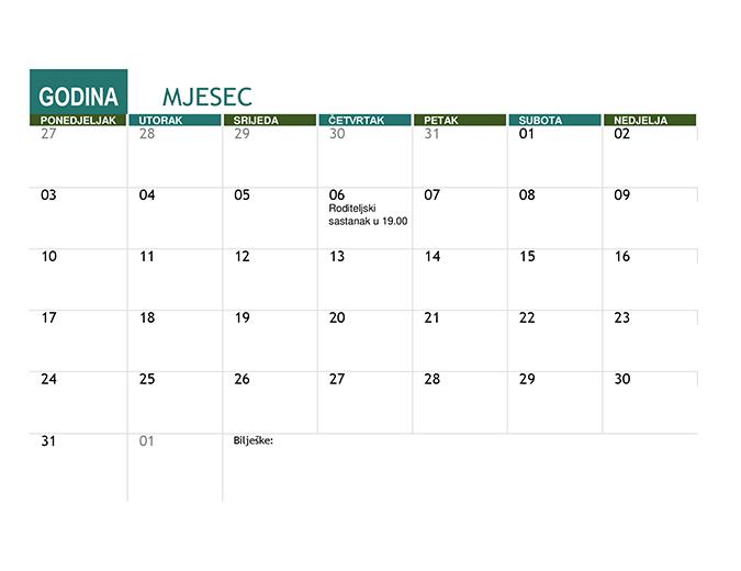 Akademski kalendar