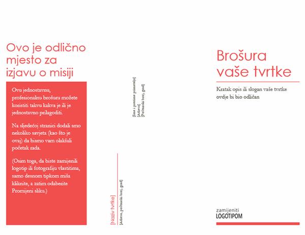 Brošura tvrtke