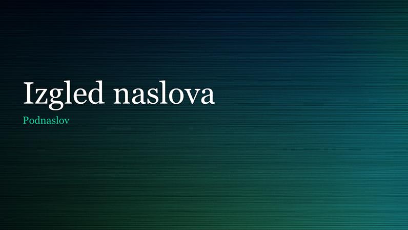 Prezentacija s motivom zelenog brušenog metala (za široke zaslone)