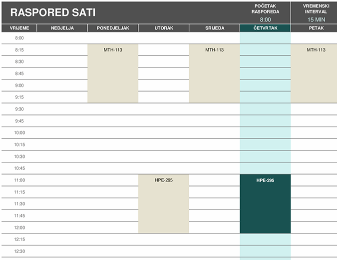 Raspored za studente