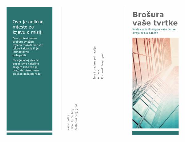 Brošura s tri preklopa (plava)
