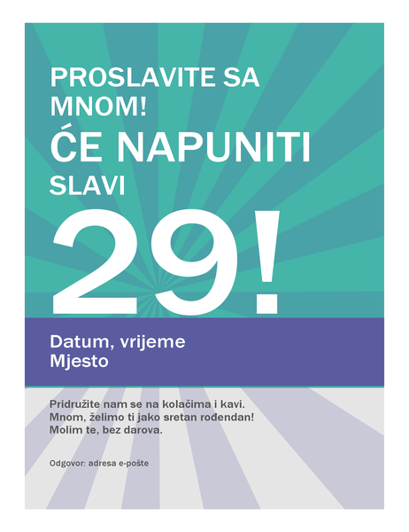 Poster za rođendan