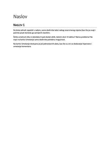 Dizajn izvješća (prazno)