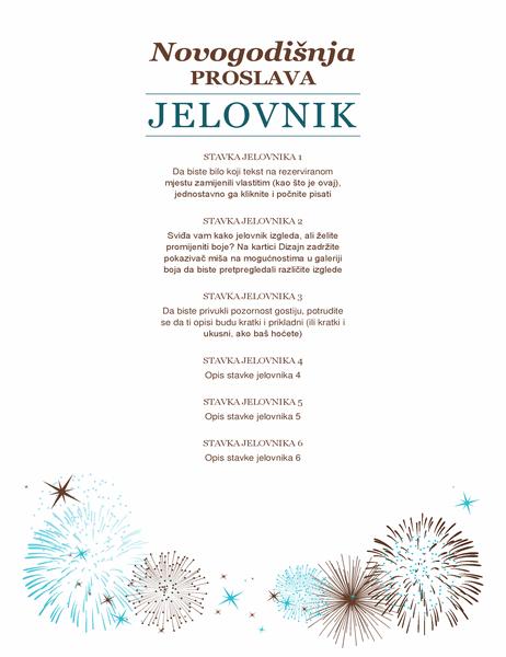 Jelovnik za novogodišnju zabavu
