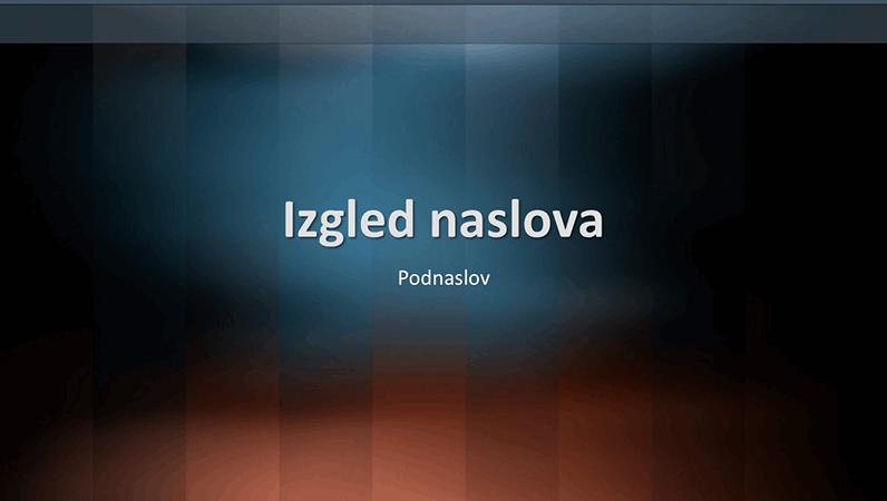 Dizajn slajdova s okomitim leksikonom