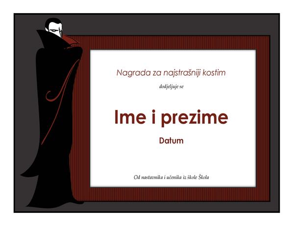 Nagrada za kostim za Noć vještica