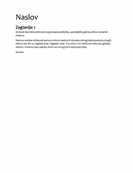 Dizajn za specifikacije (prazno)