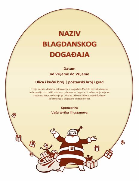 Letak za božićni događaj