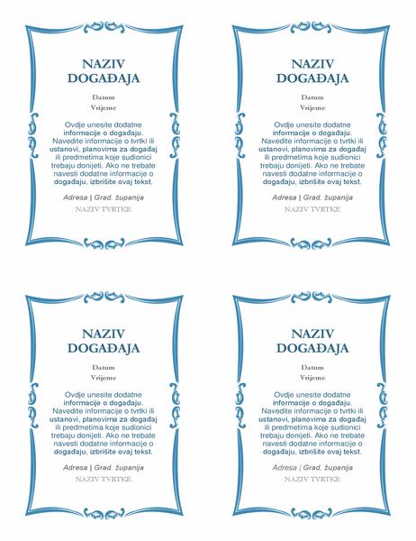 Pozivnice na događaj (4 po stranici)