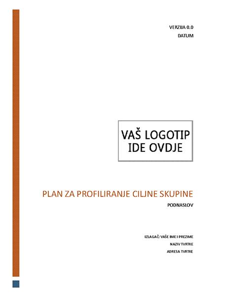 Plan za profiliranje ciljne skupine