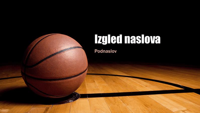 Prezentacija o košarci (široki zaslon)