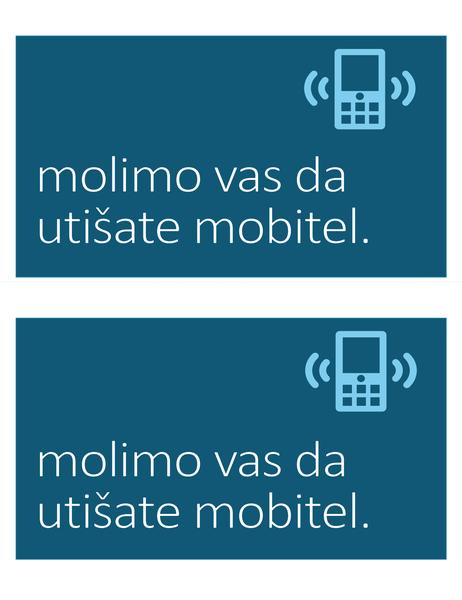 Znak o zabrani korištenja mobitela (2 po stranici)