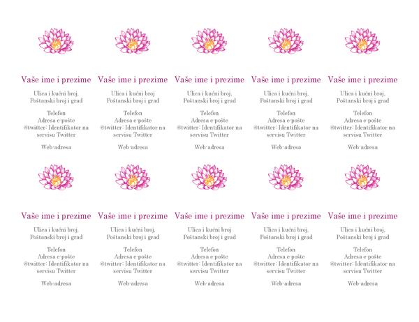 Osobne posjetnice s cvjetnim uzorkom (okomito)