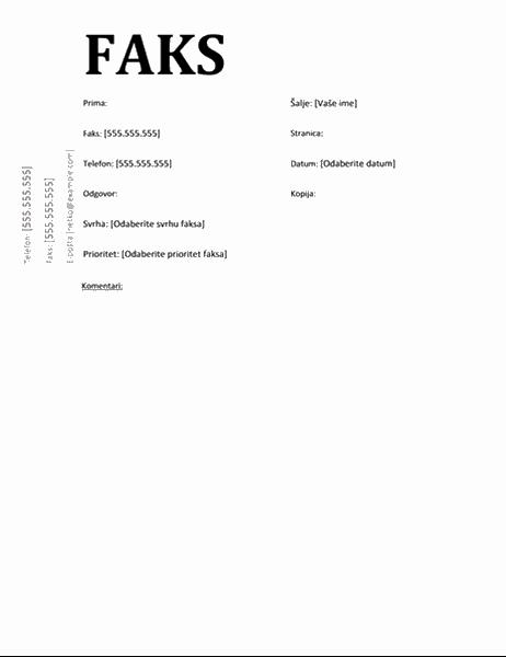 Naslovnica faksa (akademski dizajn)