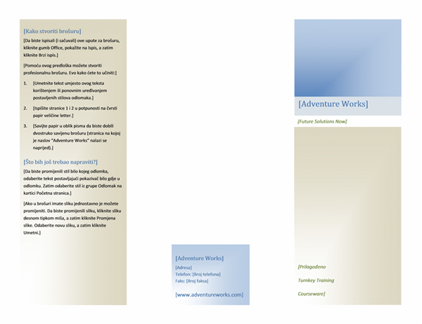 Brošura (8 1/2 x 11, vodoravna, dvostruka)