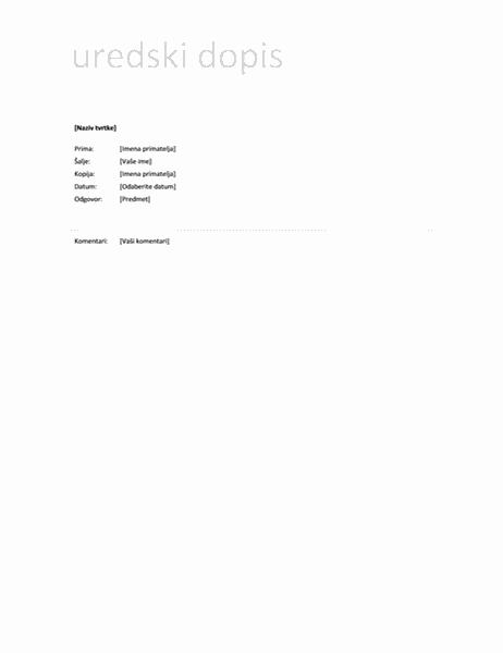 Dopis (jednostavan dizajn)