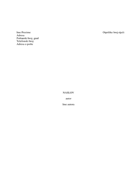 Literarni rukopis