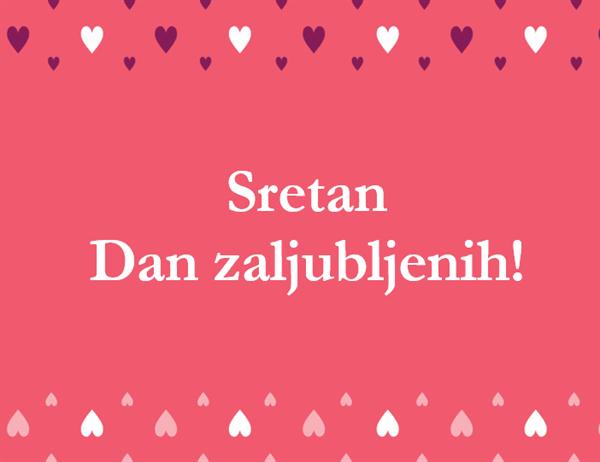 Čestitka za Valentinovo (presavija se dvaput)