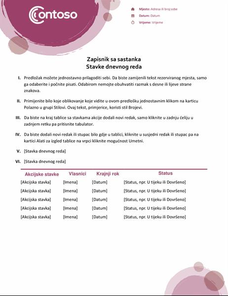 Bilješke sa sastanka s ružičastim motivima
