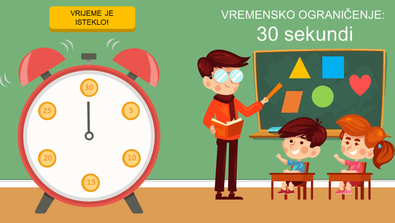 Mjerači vremena za učionicu (sat)
