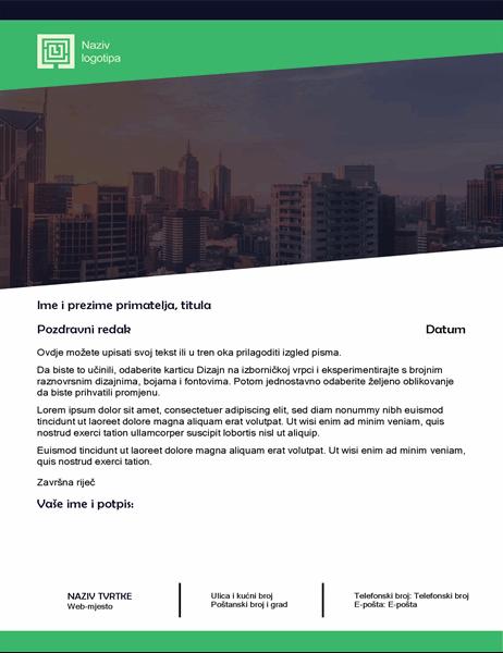Poslovno pismo (dizajn zelene šume)