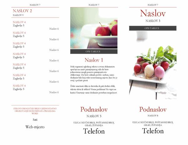 Brošura s naslovima