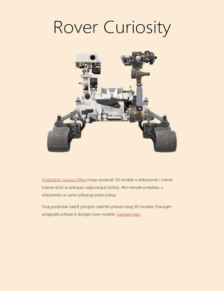 3D znanstvenog izvješće u programu Word (model rovera za Mars)