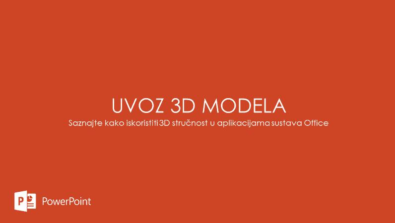 Uvoz 3D modela