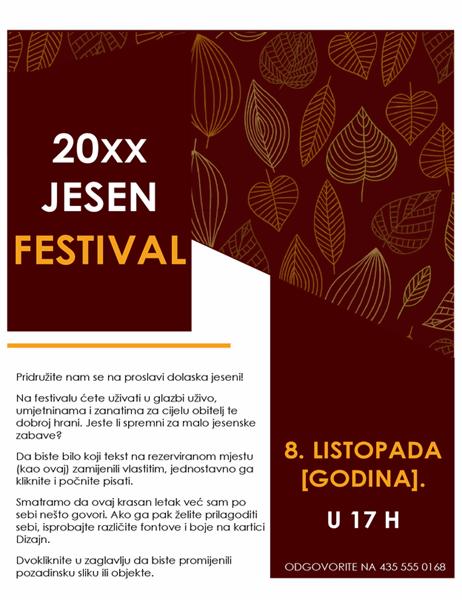 Letak za jesenski festival.