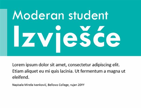 Živopisni predložak za studentske referate