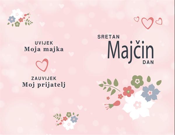 Lijepa u ružičastom Čestitka za Majčin dan